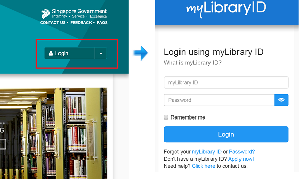 myLibrary login page
