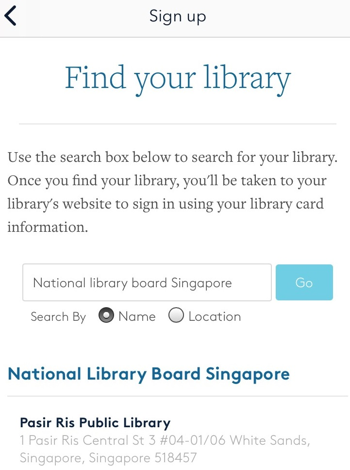 Select your public library