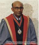 Portrait of Dr. K. Shanmugaratnam, Master of Academy of Medicine in Singapore
